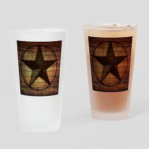 barn wood texas star Drinking Glass