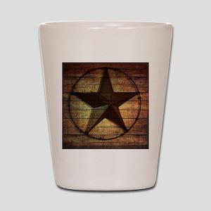 barn wood texas star Shot Glass