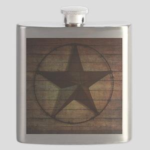 barn wood texas star Flask