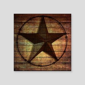 "barn wood texas star Square Sticker 3"" x 3"""
