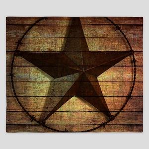 barn wood texas star King Duvet