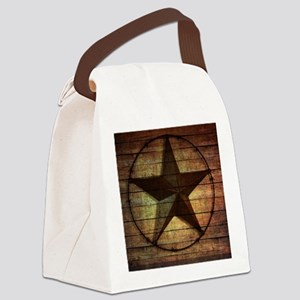 barn wood texas star Canvas Lunch Bag