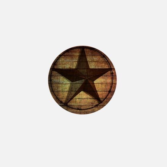 barn wood texas star Mini Button
