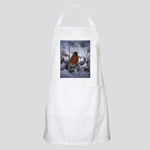 nature winter robin bird Apron