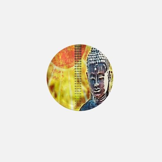 modern Zen buddha Mini Button