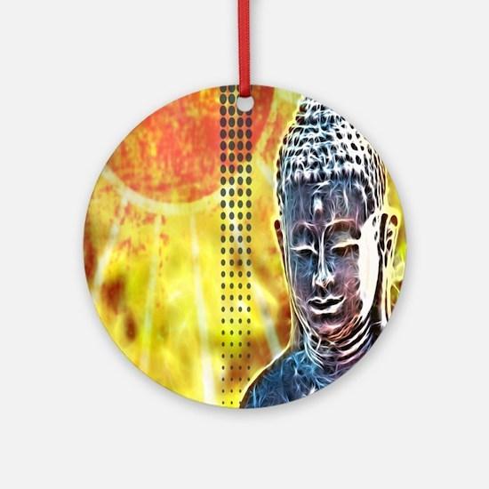 modern Zen buddha Round Ornament