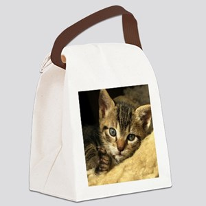 Soft Life Kitten Canvas Lunch Bag