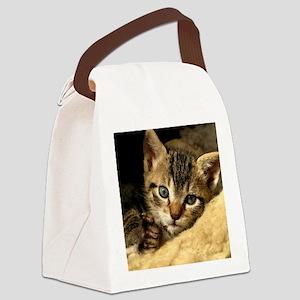Soft Life Kitten Canvas Lunch Bag