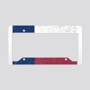 Wrinkled Texas Flag. License Plate Holder