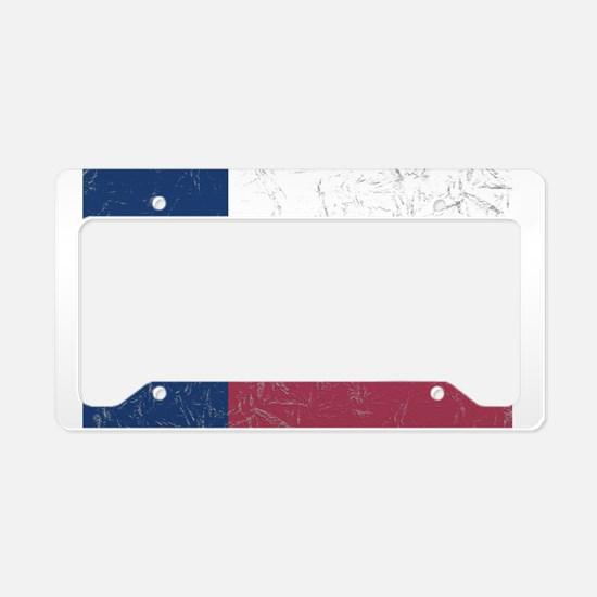 Wrinkled Texas Flag. License Plate Holder