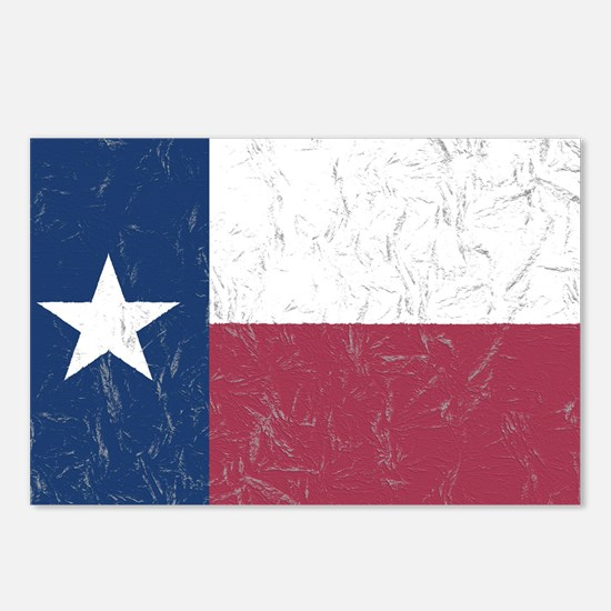 Wrinkled Texas Flag. Postcards (Package of 8)