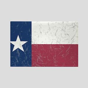 Wrinkled Texas Flag. Magnets