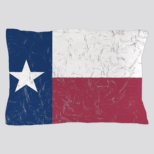 Wrinkled Texas Flag. Pillow Case