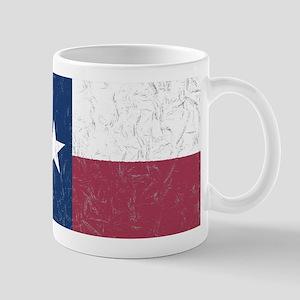 Wrinkled Texas Flag. Mugs
