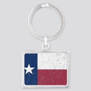 Wrinkled Texas Flag. Keychains
