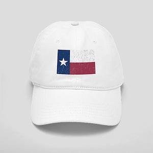 Wrinkled Texas Flag. Baseball Cap