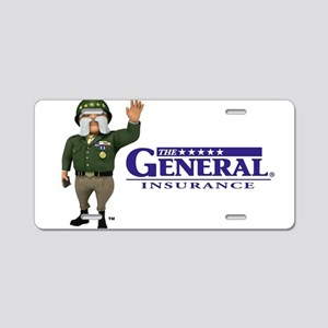 The General Logo Aluminum License Plate