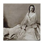 Lady Love Borzoi Tile Coaster