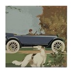 Vintage Car And Borzoi Tile Coaster