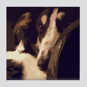 Borzoi Essence Tile Coaster