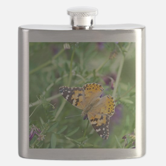 Painted Lady Butterfly Flask