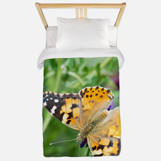 Painted Lady Butterfly Twin Duvet