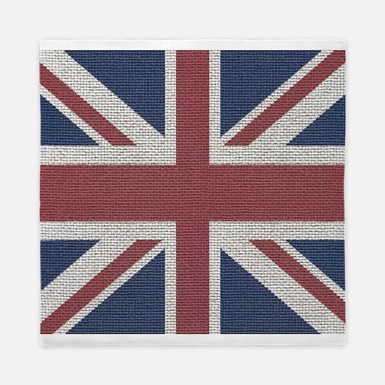 woven Union Jack flag Queen Duvet