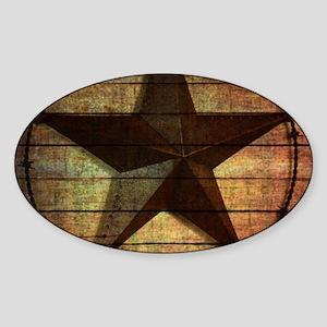 barn wood texas star Sticker