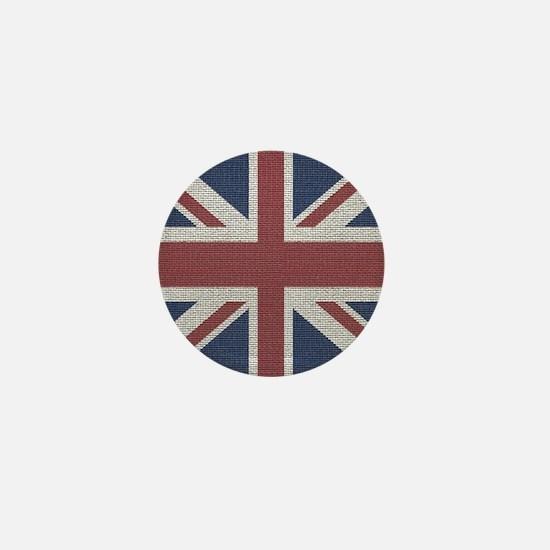 woven Union Jack flag Mini Button
