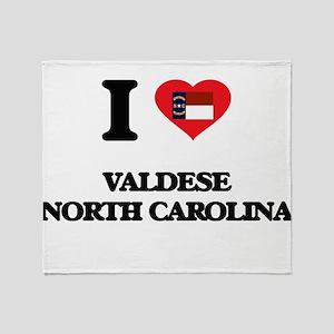 I love Valdese North Carolina Throw Blanket
