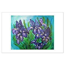Purple Irises Art Posters