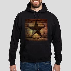 barn wood texas star Hoodie (dark)