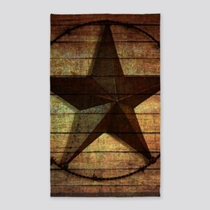barn wood texas star Area Rug
