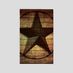 barn wood texas star Area Rug