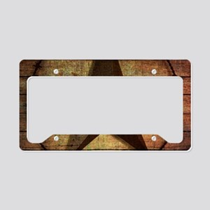 barn wood texas star License Plate Holder