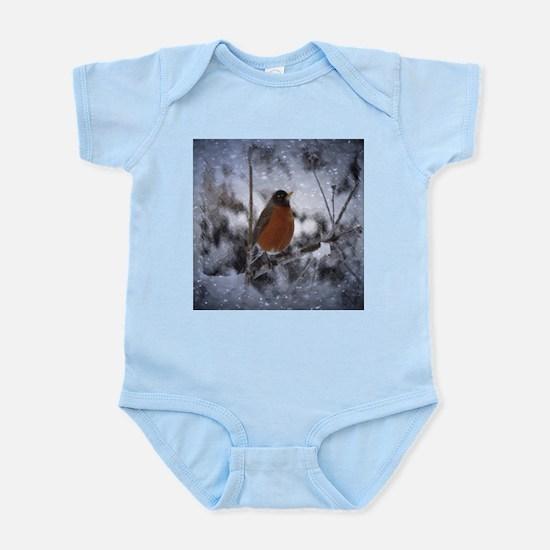 nature winter robin bird Body Suit