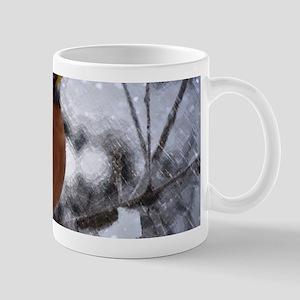 nature winter robin bird Mugs