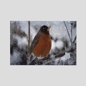 nature winter robin bird Magnets