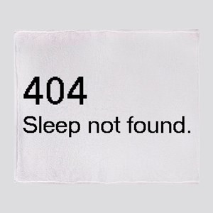 Sleep not found Throw Blanket