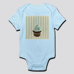 retro pattern cute cupcake Body Suit