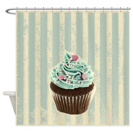 Cute Cupcake Shower Curtain By Pcupcakes