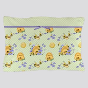 Bee Dance Floral Pillow Case