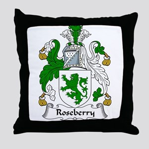 Roseberry Family Crest Throw Pillow