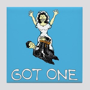 Got One Just Married Tile Coaster