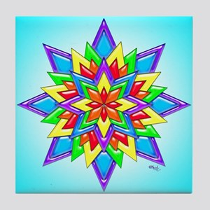 Rainbow Design II by Xennifer Tile Coaster