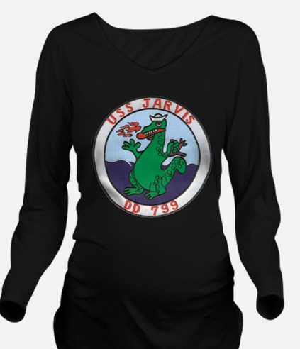 USS JARVIS Long Sleeve Maternity T-Shirt