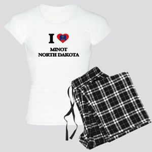 I love Minot North Dakota Women's Light Pajamas