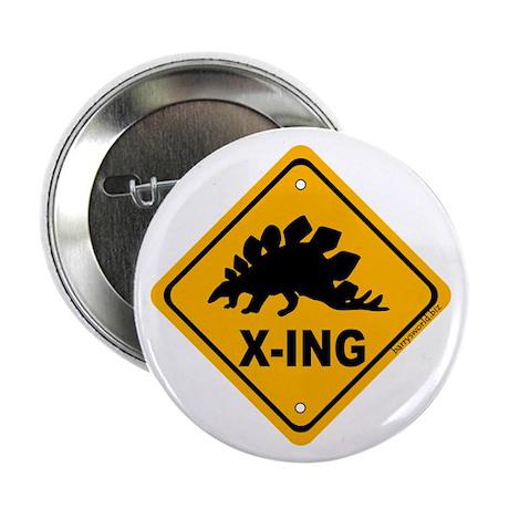 "Dino3 X-ing 2.25"" Button (100 pack)"