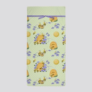 Bee Dance Floral Beach Towel
