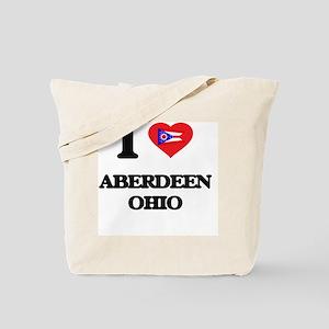 I love Aberdeen Ohio Tote Bag